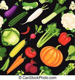 Organische Gemüsesammlung.