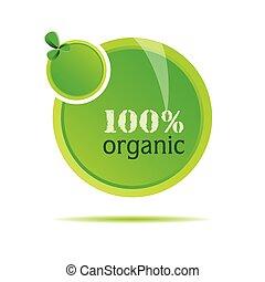 organische , vektor, grün, abbildung, natur