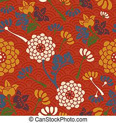 Orientale Blumen nahtlos Muster