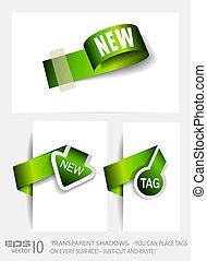 Originale grüne Papiermarken