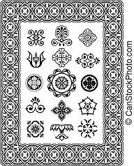 Ornament-Vektor-Design Elemente Monogramme.