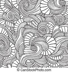 Ornamentaler Jahrgang Floral abstrakt nahtlose Muster.