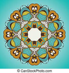 Ornamente rundes Spitzenmuster ist wie Mandala