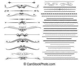 Ornamentregellinien in verschiedenen