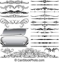 Ornate-Foral-Designelemente