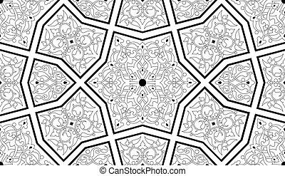 Ornate nahtloses Muster