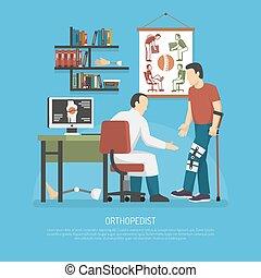 orthopädie, begriff, design