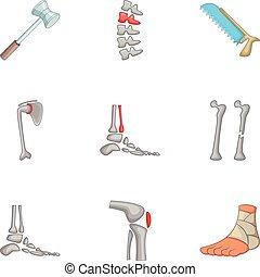 orthopädie, satz, traumatology, heiligenbilder