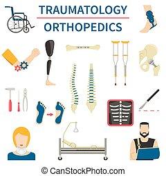 orthopädie, traumatology, heiligenbilder