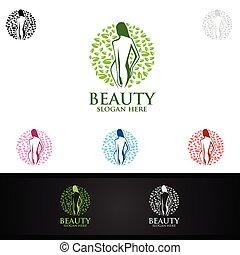 osteopathie, chiropraktik, massage, logo, schmerz, zurück, design