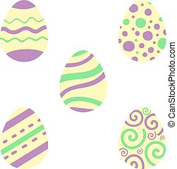 Ostereierset. Illustration für Ostern. Religionsurlaub