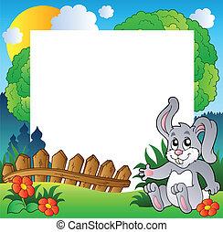 Osterrahmen mit Happy Bunny