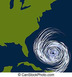 Ostküsten-Wirbelsturmzeichnung