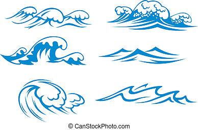 Ozean und Meereswellen
