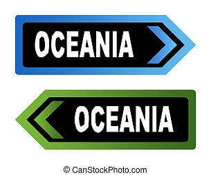 ozeanien, straße unterzeichnet