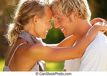 paar, junger, glücklich