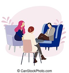 paar, psychotherapia, consulted, psychologe, wesen, familie