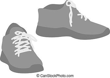 Paar Schuhe.