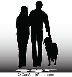 Paare mit Hundevektoren