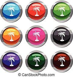 Palm Set 9 Sammlung