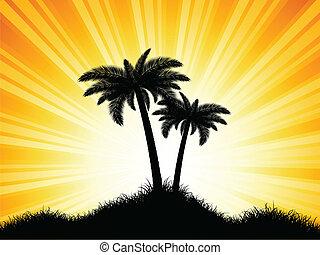 Palmbaum-Silhouette