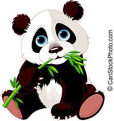 Panda isst Bambus