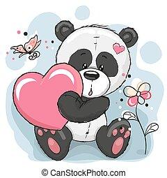 Panda mit Herz.