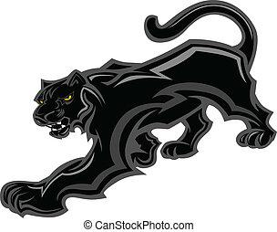 Panther Maskottchen-Körpervektorgrafik
