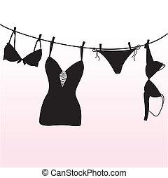Pantie, BH und Unterwäsche