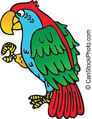 papagai, gelber , schnabel
