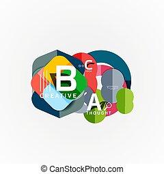 Paper infographic Banner Vorlage mit a b c Optionen, infographics Elemente