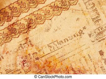 papier, altes , hintergrund, -, weinlese