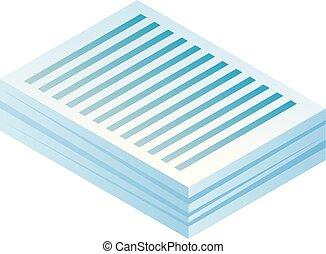 Papier-Ikone, isometrischer Stil