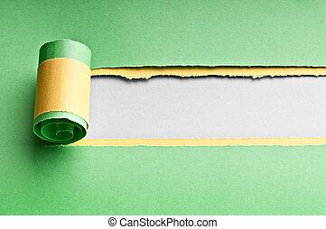 papier, nachricht, zerrissene , dein, raum
