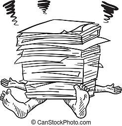 Papierkram Stress Sketch.