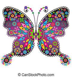 papillon, fantasie, lebhaft, weinlese