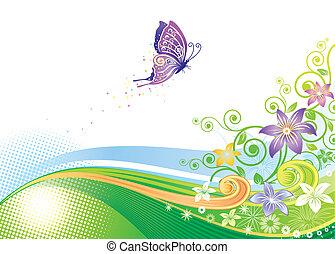 papillon, floral entwurf