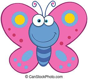 papillon, lächeln