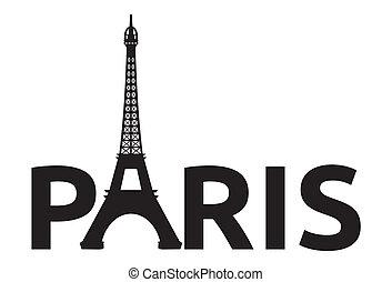Paris - Eiffelturm-Retrokarte