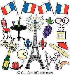 Paris-France-Clipart-Elemente