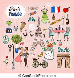 Pariser Französiche und Ikonen.
