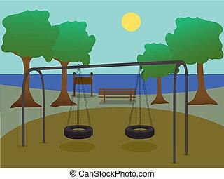Park mit Spielplatz