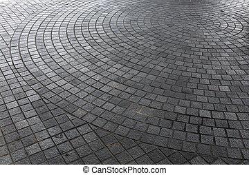 Parkettboden in der Stadtstraße.