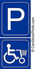 Parkhaus-Mobilitätsschild.