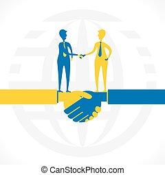 Partnerschaft oder Geschäftsbeziehung.