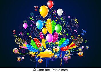 party, abbildung, feier
