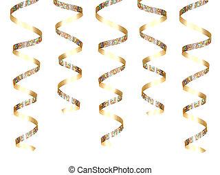 party, gold band, hängender