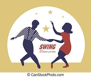 party, hintergrund, plakat, gold, schwingen, tanz