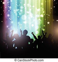 Party-Leute auf Seelicht Hintergrund 2102.