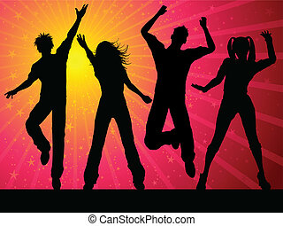 Party-Leute tanzen.